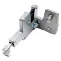 retractable latch for steel doors