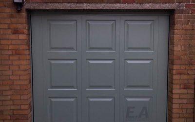 Georgian up and over retractable steel framed garage door