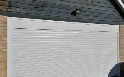 Bright is white! New roller shutter garage doors