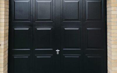 Georgian retractable steel framed garage door